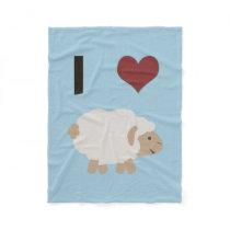 I heart (love) Ewe (you) Fleece Blanket