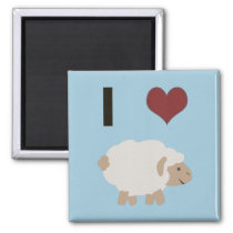 I heart (love) Ewe (you) Magnet