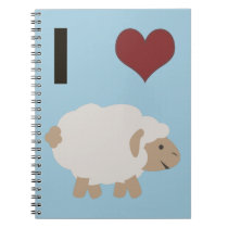 I heart (love) Ewe (you) Notebook