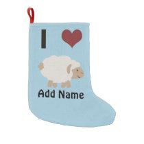 I heart (love) Ewe (you) Small Christmas Stocking