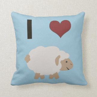 I heart (love) Ewe (you) Throw Pillow