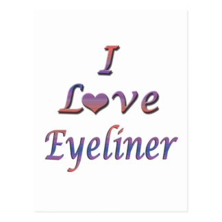 I Heart (Love) Eyeliner Postcard