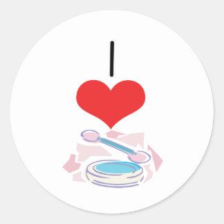 I Heart (Love) Eyeshadow Round Stickers