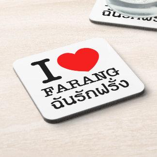 I Heart (Love) Farang Beverage Coaster