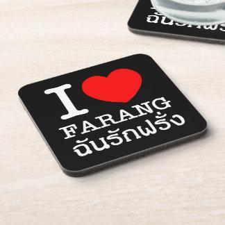 I Heart (Love) Farang Coaster