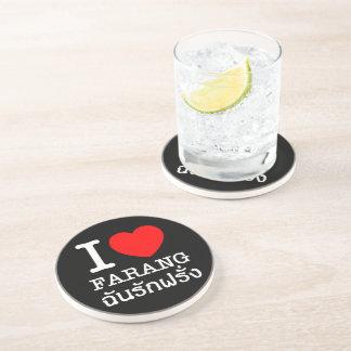 I Heart (Love) Farang Drink Coaster
