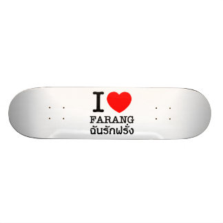 I Heart (Love) Farang Skateboard Deck
