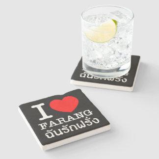 I Heart (Love) Farang Stone Coaster