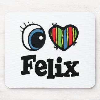 I Heart Love Felix Mouse Pad
