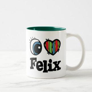 I  Heart (Love) Felix Two-Tone Coffee Mug