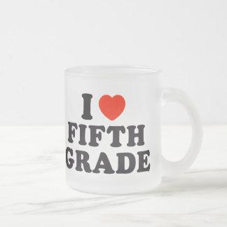 I Heart / Love Fifth Grade Mugs