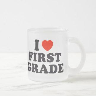 I Heart / Love First Grade Coffee Mugs