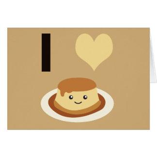 I Heart (love) flan! Card