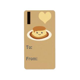 I Heart (love) flan! Label