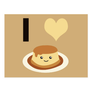 I Heart (love) flan! Postcard