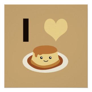 I Heart (love) flan! Poster