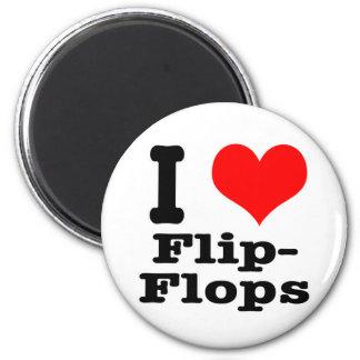 I HEART (LOVE) flip flops Refrigerator Magnets