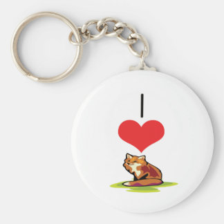 I Heart (Love) Foxes Keychain