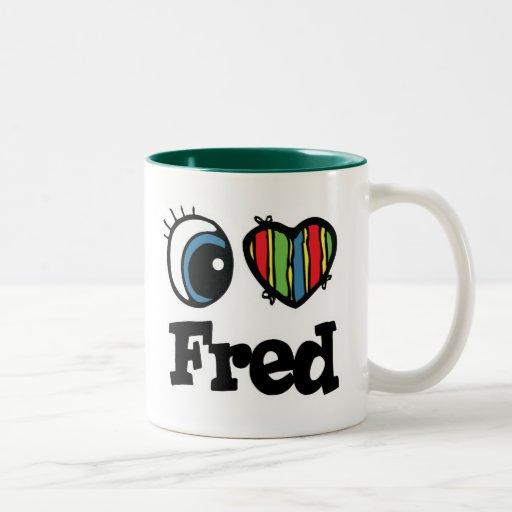 I  Heart (Love) Fred Two-Tone Coffee Mug