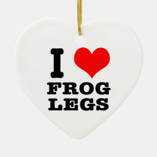 I HEART (LOVE) frog legs Christmas Tree Ornament