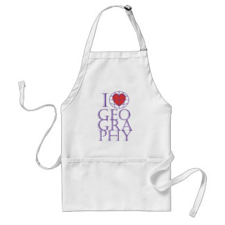 I heart love Geography Apron