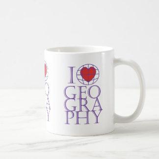 I heart (love) Geography Classic White Coffee Mug