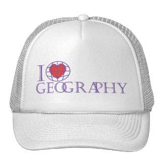 I heart (love) Geography Trucker Hat