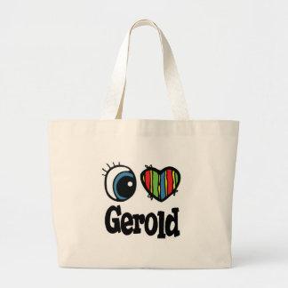 I Heart Love Gerold Canvas Bags