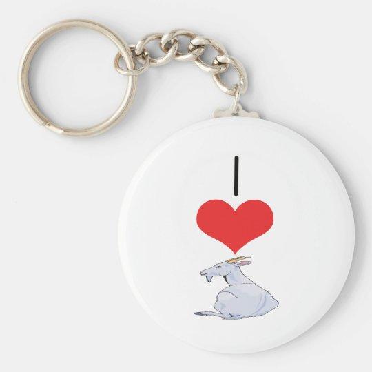 I Heart (Love) Goats  Keychain