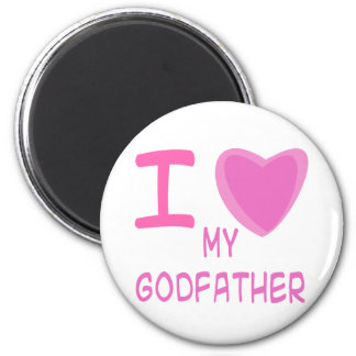 I Heart (Love) godfather 2 Inch Round Magnet