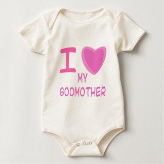 I Heart (Love) godmother Baby Bodysuit
