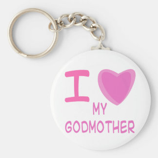 I Heart (Love) godmother Keychain