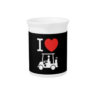 I Heart (Love) Golf Cart Beverage Pitcher