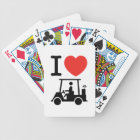 I Heart (Love) Golf Cart Bicycle Playing Cards