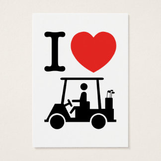 I Heart (Love) Golf Cart Business Card