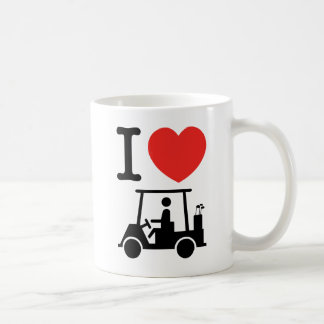 I Heart (Love) Golf Cart Coffee Mug