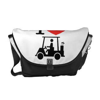 I Heart (Love) Golf Cart Courier Bag