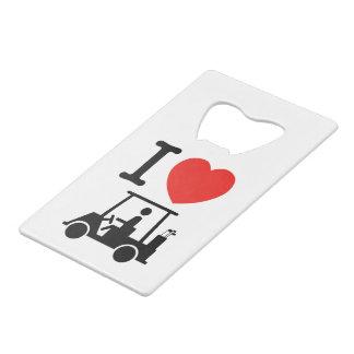 I Heart (Love) Golf Cart Credit Card Bottle Opener
