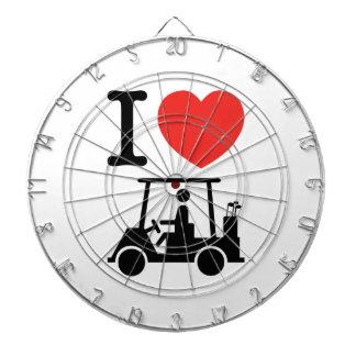 I Heart (Love) Golf Cart Dartboard