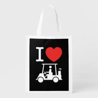 I Heart (Love) Golf Cart Grocery Bag