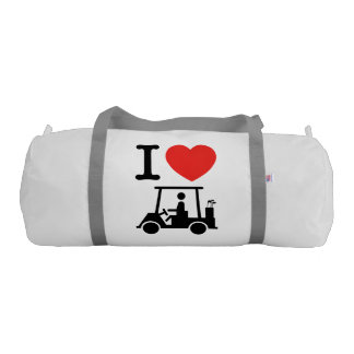 I Heart (Love) Golf Cart Gym Bag