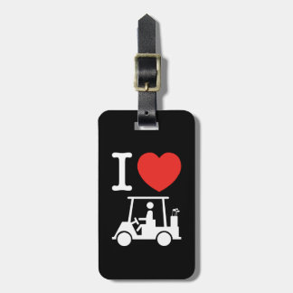 I Heart (Love) Golf Cart Tags For Bags