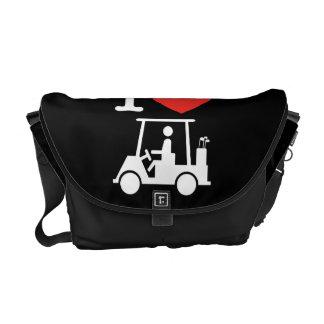 I Heart (Love) Golf Cart Messenger Bag