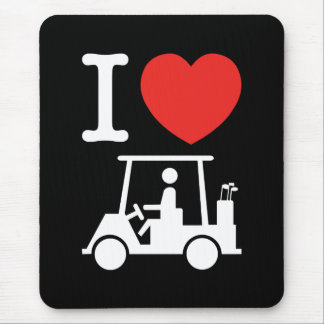 I Heart (Love) Golf Cart Mousepad