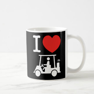 I Heart (Love) Golf Cart Classic White Coffee Mug