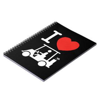 I Heart (Love) Golf Cart Notebook
