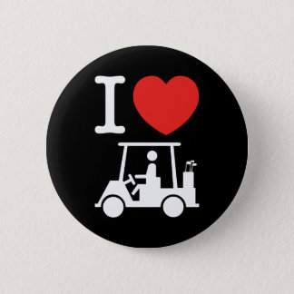 I Heart (Love) Golf Cart Pinback Button