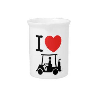 I Heart (Love) Golf Cart Pitcher