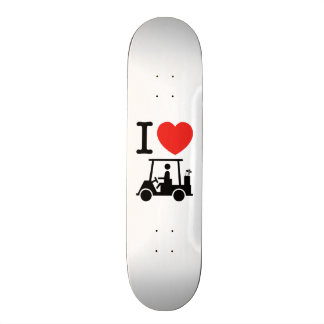 I Heart (Love) Golf Cart Skateboard