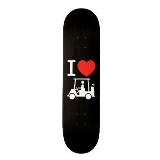 I Heart (Love) Golf Cart Skateboard Deck